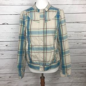 Fossil Plaid Jacket Size Medium